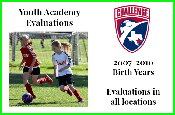 Information About Upcoming Youth Academy Evaluations