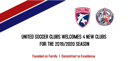 United Soccer Clubs Welcomes 4 New Clubs for the 2019-2020 Season