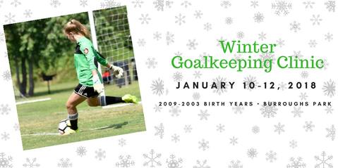 Winter Goalkeeping Clinic Set for January 10-12, 2018
