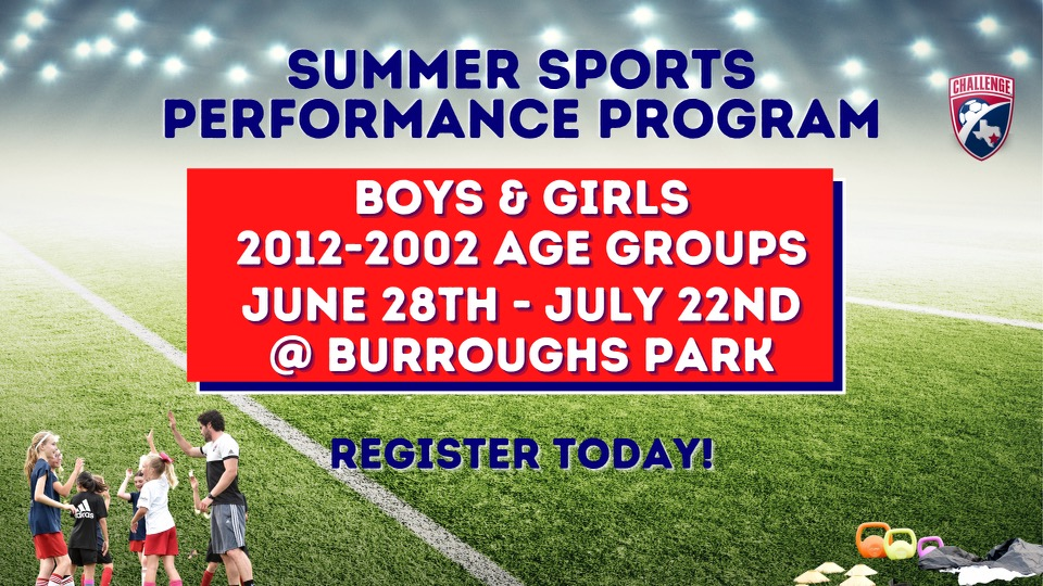 Summer Sports Performace Camp Registration Now Open