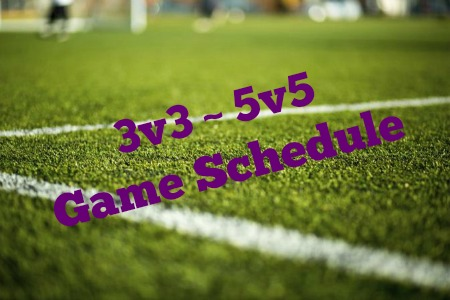 Game Schedules for Weekend 3v3 & 5v5 Tournament