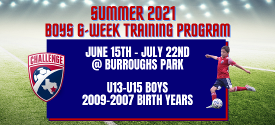 Summer 2021 BOYS 6-Week Training Program - Burroughs Park