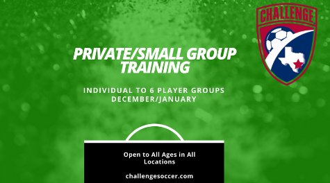 Individual/Small Group Training ~ December & January